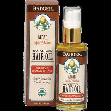 Badger Balm Argan Hair Oil for Dry Damaged Hair