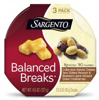 Sargento® Balanced Breaks® Colby-Jack Natural Cheese with Sea-Salted Peanuts and Blueberry Juice-Infused Dried Cranberries