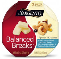 Sargento® Balanced Breaks® Natural Sharp White Cheddar Cheese with Cashews and Raisins