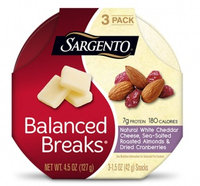 Sargento® Balanced Breaks® Natural White Cheddar Cheese with Almonds and Dried Cranberries
