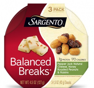Sargento® Balanced Breaks® Pepper Jack Natural Cheese with Honey Roasted Peanuts and Raisins