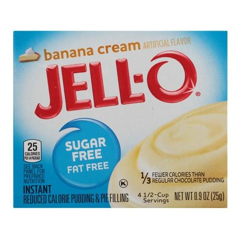 JELL-O Banana Cream Instant Reduced Calorie Pudding & Pie Filling