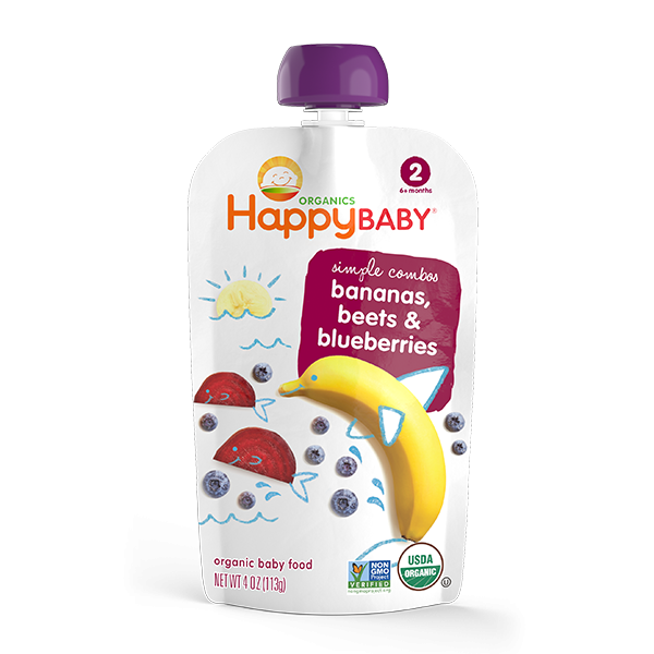 Happy Baby® Organics Simple Combos Bananas, Beets & Blueberries
