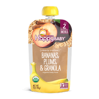 Happy Baby® Organics Clearly Crafted™ Bananas, Plums & Granola