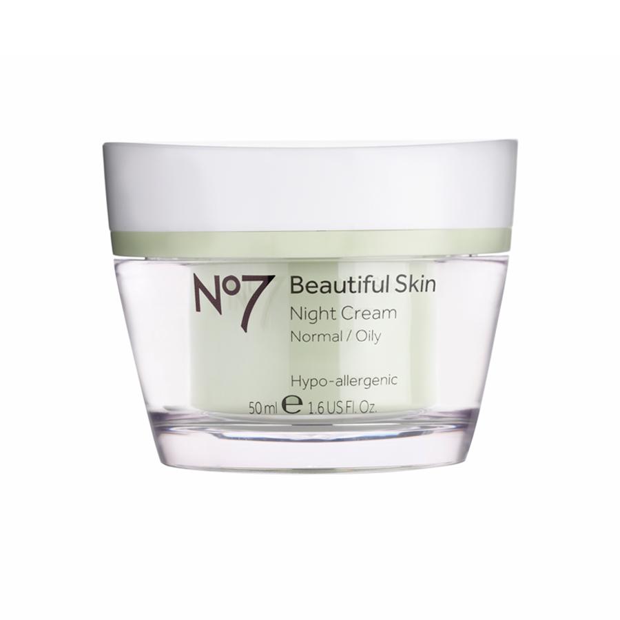 No7 Beautiful Skin Night Cream Normal/Oily