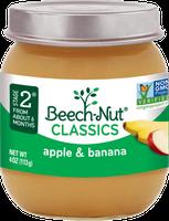 Beech-Nut classics apple & banana jar
