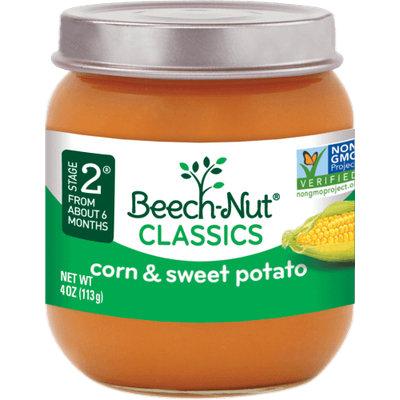 Beech-Nut classics corn & sweet potato jar