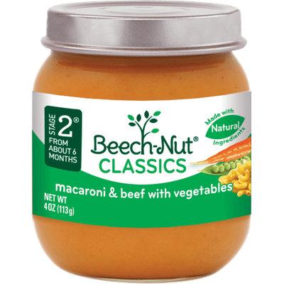 Beech-Nut classics macaroni & beef with vegetables jar