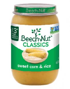 Beech-Nut classics sweet corn & rice jar