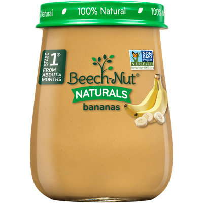 Beech-Nut naturals bananas jar