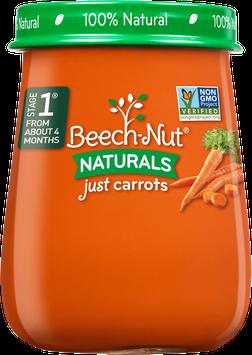 Beech-Nut naturals just carrots jar