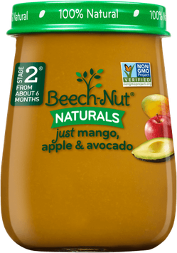 Beech-Nut naturals just mango, apple & avocado jar