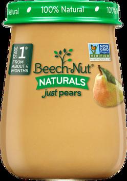 Beech-Nut naturals just pears jar