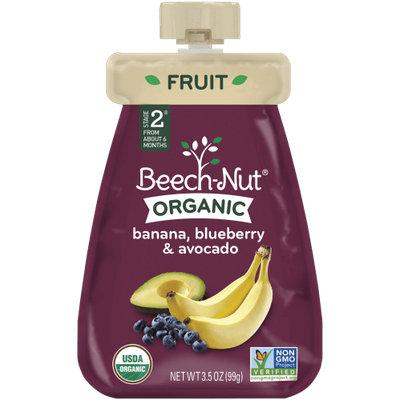 Beech-Nut organic banana, blueberry & avocado pouch