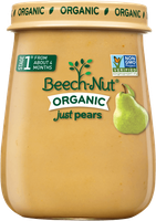 Beech-Nut organic just pears jar