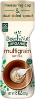 Beech-Nut organic multigrain cereal canister