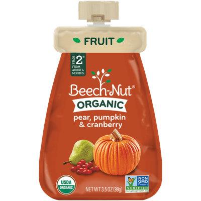 Beech-Nut organic pear, pumpkin & cranberry pouch