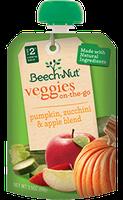 Beech-Nut pumpkin, zucchini & apple veggies on-the-go pouch
