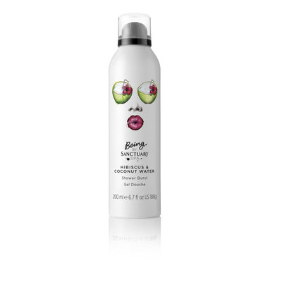 Being By Sanctuary Hibiscus & Coconut Water Shower Burst