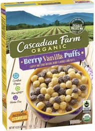 Cascadian Farm Organic Berry Vanilla Puff Cereal