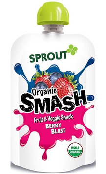Sprout Organic SMASH Fruit & Veggie Snack - Berry Blast