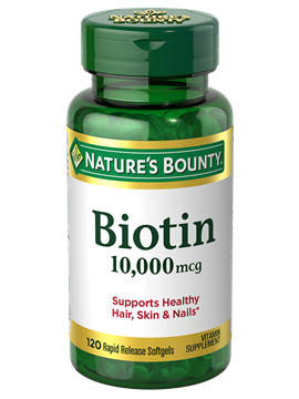 NATURE'S BOUNTY® Biotin 10,000mcg Rapid Release Softgels
