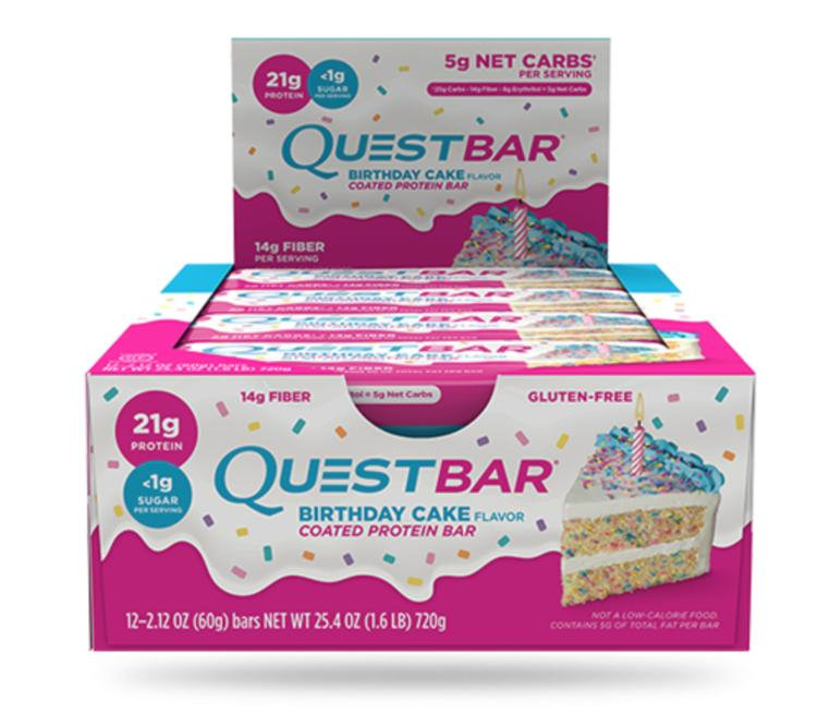 QUEST NUTRITION Birthday Cake Protein Bar Reviews 2019