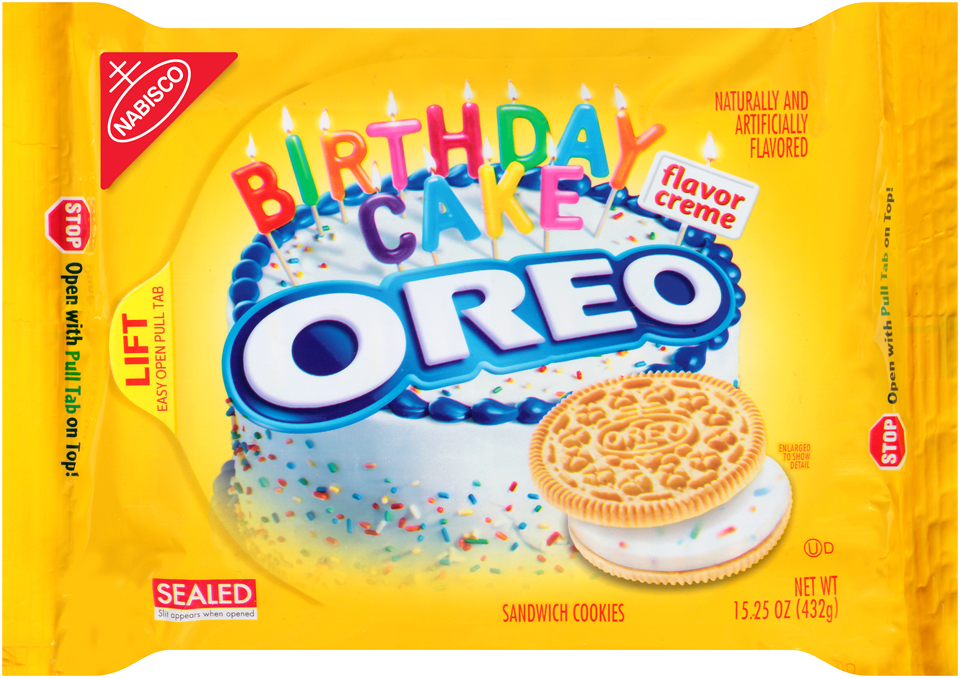 Nabisco Oreo - Sandwich Cookies - Golden Birthday Cake