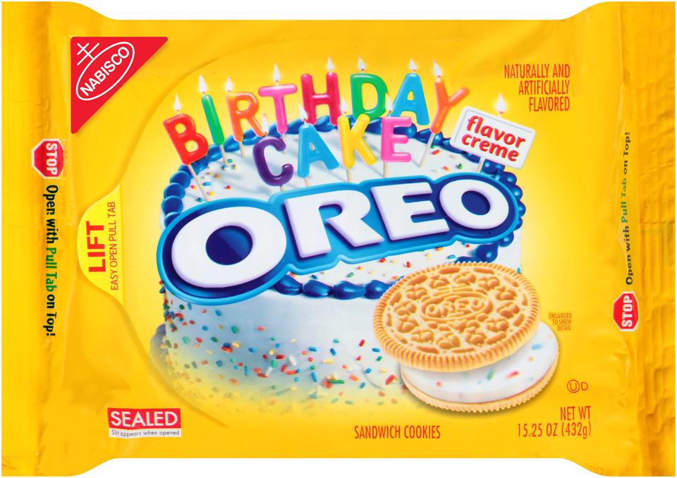 Nabisco Oreo - Sandwich Cookies - Golden Birthday Cake