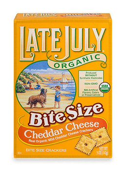 Late July® Snacks Classic Crackers Bite Size Cheddar Cheese