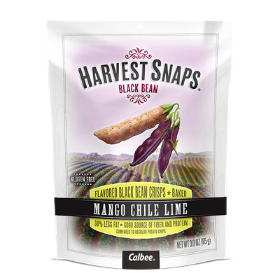 Calbee Harvest Snaps Black Bean Mango Chili Lime