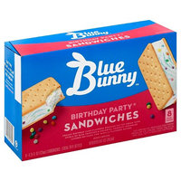 Blue Bunny Birthday Party Sandwiches