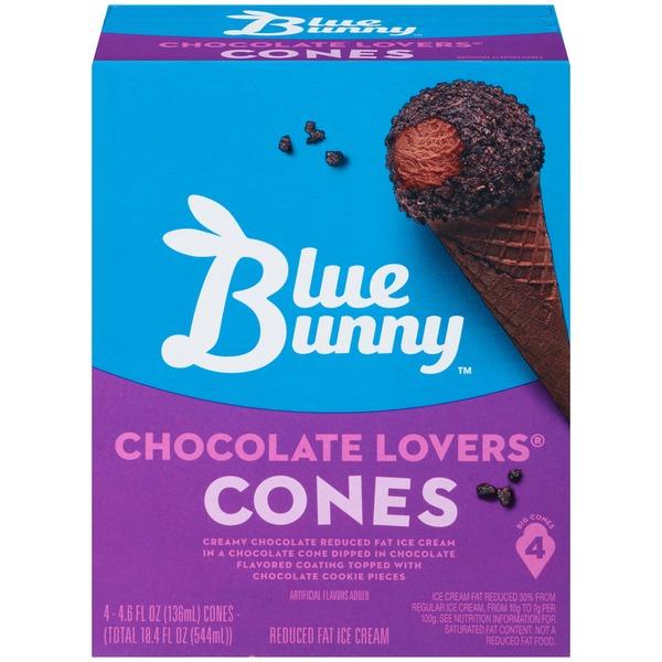 Blue Bunny Chocolate Lovers Cones