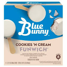 Blue Bunny Cookies 'N Cream Funwich