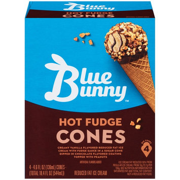 Blue Bunny Hot Fudge Cones