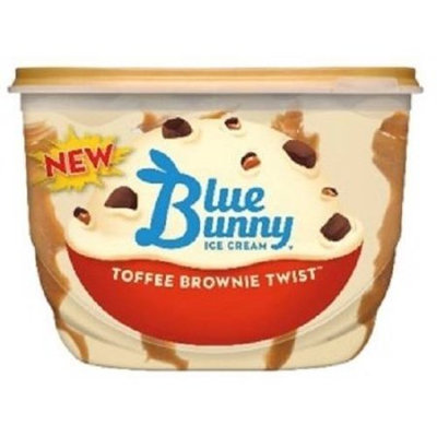Blue Bunny New Ice Cream Toffee Brownie Twist