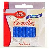 Betty Crocker™ Blue Spiral Birthday Candles