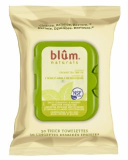 Blum Naturals Daily Combination/Oily Cleansing & Makeup Remover Towelettes