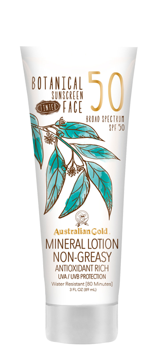 Botanical Sunscreen SPF 50 Tinted Face Mineral Lotion