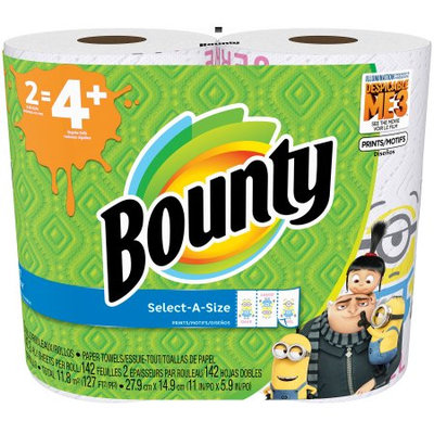 Bounty Printed Paper Towels Featuring Despicable Me 3