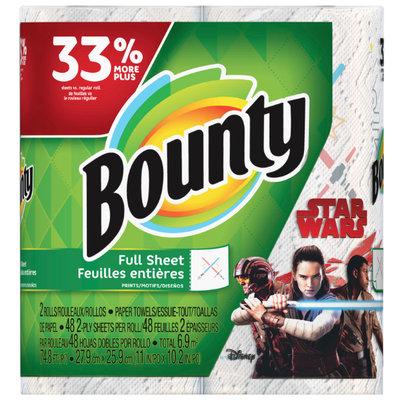 Bounty Star Wars Print Paper Towels Full Sheet