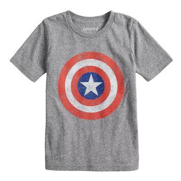 Jumping Beans® Marvel Captain America Logo Graphic Tee For Boys 4-10