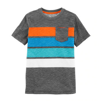 OshKosh B'gosh® Striped Slubbed Pocket Tee For Boys 4-12