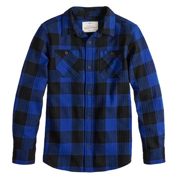 urban pipeline Plaid Button-Down Flannel Shirt For Boys 8-20