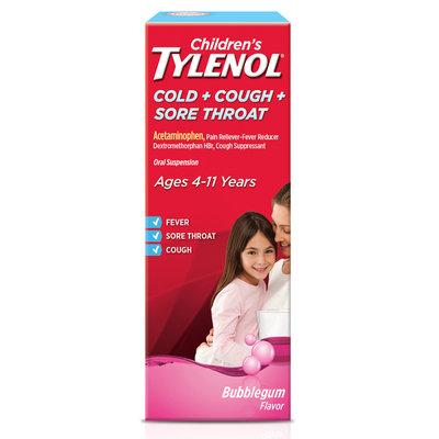 Tylenol® Cold + Cough + Sore Throat Bubblegum Oral Suspension
