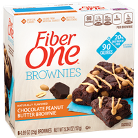 Fiber One 90 Calorie Chocolate Peanut Butter Brownie