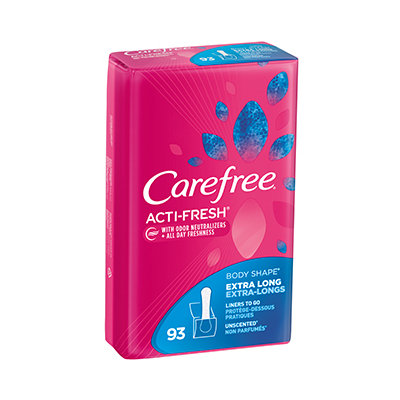 CAREFREE® ACTI-FRESH® Extra Long