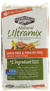 Castor & Pollux Natural Ultramix Grain Free/Poultry Free Adult Dog - Salmon