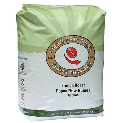 Coffee Bean Direct French Roast Papua New Guinea Ground Coffee