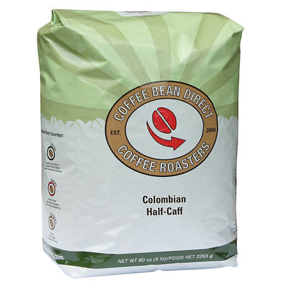 Coffee Bean Direct Colombian Half-Caff, Whole Bean